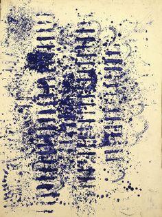 Yves Klein, Empreinte sans titre (EMP ca. 77 x 60 cm International Klein Blue, Nouveau Realisme, Rose Croix, Neo Dada, Grafic Art, Yves Klein Blue, Mystique, Art Walk, True Art
