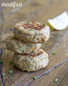 Baked Parsnip Salmon Cakes : Parsnips 2 cans salmon Dill, garlic, salt Coco or avocado oil for brushing