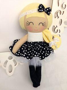 Rag Dolls Handmade Doll Fabric Doll Cloth Doll por SewManyPretties