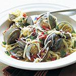 Fresh Garlic Linguine with Clams Recipe | MyRecipes.com