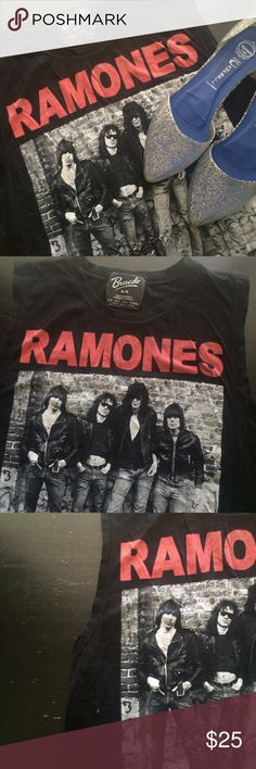 Ramones Muscle Tee Soft & comfy muscle tee from urban. Fits small & medium Urban Outfitters Tops Muscle Tees