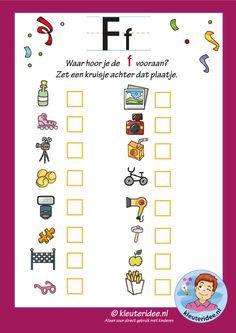 Waar hoor je de letter c vooraan? Letter P Activities, Classroom Activities, Teaching The Alphabet, Teaching Kids, Letter G, School Lessons, Exercise For Kids, France, Kids Education