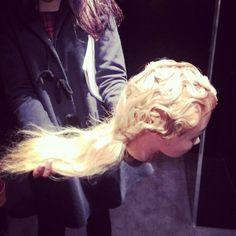 fairytale-medusa inspired twisted and teased locks seen at Kinder Aggugini today! #LFW #hair #beauty