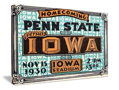 Iowa football tickets! The best vintage Iowa football tickets are at http://www.shop.47straightposters.com/Iowa-Football-Tickets-Iowa-and-Iowa-State-tickets_c28.htm