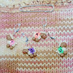 Coated Sheep Directional knitting or crochet by TheClaySheep (Craft Supplies & Tools, Fiber & Textile Art Supplies, Knitting & Crocheting, Stitch Markers, stitch marker, sheep, accessory, crochet, cream, polymer clay, knitting, coated sheep, pink, purple, peach, green, gifts)