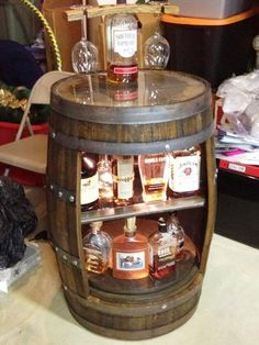 Reclaimed Bourbon Barrel Bar - by Justin @ LumberJocks.com ~ woodworking community                                                                                                                                                      More