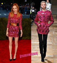 Kate Bosworth repite punk de Balmain en la gala del Met