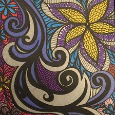 ColorIt Colorful Flowers Volume 1 Colorist: Julie Rhoades #adultcoloring #coloringforadults #adultcoloringpages #flowers
