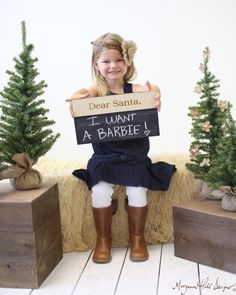 Dear Santa Christmas Chalkboard Sign Photo Prop Family Photos (Item Number 140404) NEW ITEM