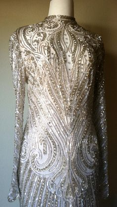 Vintage Bob Mackie Beaded Evening Cocktail Formal by JettVintage, $895.00