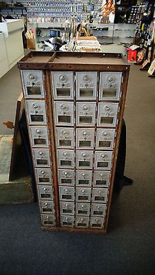 32 Vintage US Post Office Mail Box Doors and Bins