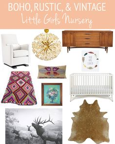 Boho, Rustic, & Vintage Little Girl's Nursery. Love your style @lindsaylj