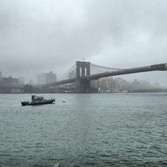 Rainy Brooklyn Bridge, Manhattan, NYC, New York