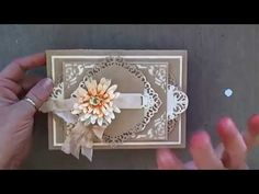 APG - Spellbinders Hinged Card Bases for Filigree Shaped Cards - YouTube