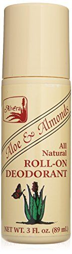 Alvera All Natural Roll-on Deodorant Aloe and Almonds - 3 Oz, 3 Fluid Ounce  //Price: $ & FREE Shipping //     #hair #curles #style #haircare #shampoo #makeup #elixir