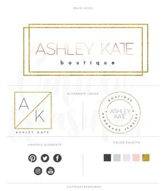 Minimalist branding kit by CutiexoTreasures on Etsy