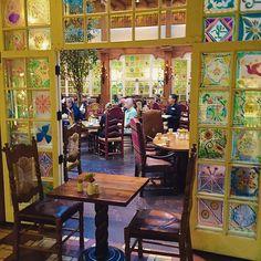 dining room at la fonda hotel