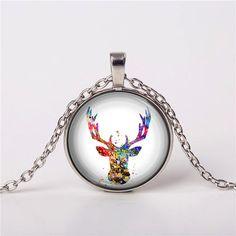 Deer Wildlife Boho Necklace Pendant Gift Jewelry