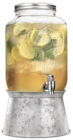 Home Essentials Del Sol 2 Gallon Drink Dispenser w/ Steel Base Home Essentials http://www.amazon.com/dp/B001HI7VGA/ref=cm_sw_r_pi_dp_bCK7ub03H76KC