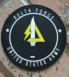 """UNITED STATES ARMY USA SPECIAL FORCE DELTA FORCE PVC PATCH VELCRO 4""""(10cm)"""