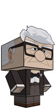 Carl Fredricksen download and cut out cube model