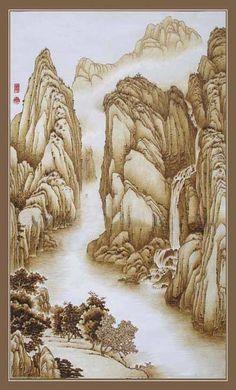 唯美的中国传统烙画艺术作品