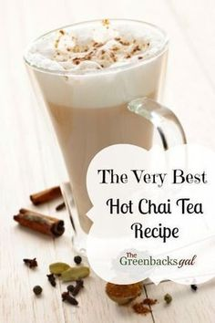 The very best chai tea #latte recipe! So simple to make, you can have a homemade latte every day!