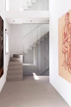 Alpine house renovated to create a private gallery.