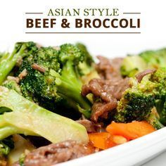This homemade Asian Style Beef & Broccoli is a crowd pleaser that leaves behind the excess sodium of takeout!