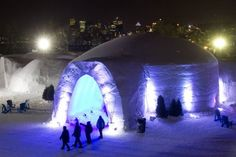 Village des Neiges in Montreal.  If you like snow, come see us.