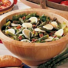 Hot Bacon Asparagus Salad.  This is an awesome Easter salad!!