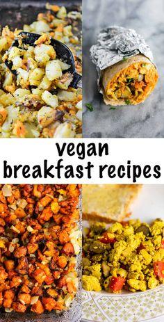 vegan breakfast ideas - all of these look really good! #veganbreakfast #veganbreakfastrecipe #breakfast #veganrecipe