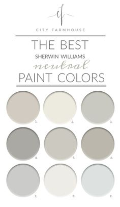 The Best Sherwin-Williams Neutral Paint Colors Agreeable Gray Alabaster Aloof Gray Ellie Gray Repose Gray Mindful Gray Passive Pure White Quick Silver Bedroom Paint Colors, Paint Colors For Home, Best Neutral Paint Colors, Neutral Living Room Paint, Fixer Upper Paint Colors, Best Greige Paint Color, Best Bathroom Paint Colors, Magnolia Paint Colors, Griege Paint Colors