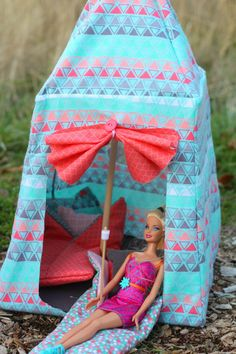 Barbie Tent Pattern & Barbie Tent Pattern | Glue guns Barbie and Tents