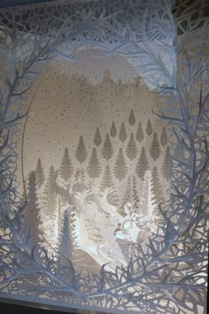 excellent paper art at Tiffany's.