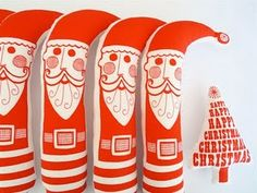 Love these santa's from jane foster
