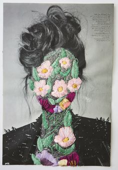 ART: jose romussi. Embroidered photographs.