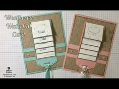 Weathered Waterfall Card - Weather Together - Stampin' Up! - Melissa's Kre8tions - YouTube
