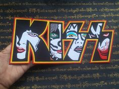KISS JUMBO SIZE Embroidered Iron on Patch Sew Heavy Metal Band Rock Music  #Unbranded #Embroidered