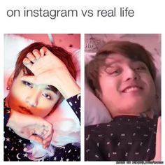 Jungkook on Instagram vs real life
