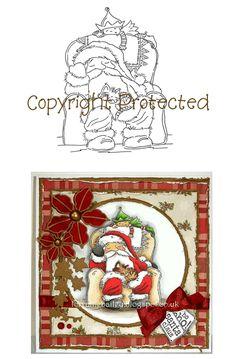 Digi Stamp - Santa Snoozing