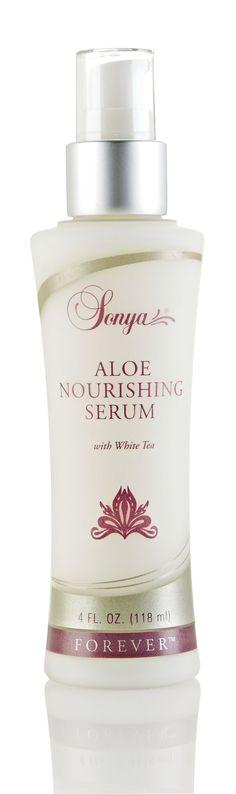 Aloe Nourishing Serum from Forever Living Products. Aloe Nourishing Serum with white tea extract preserves and replenishes your skins moisture