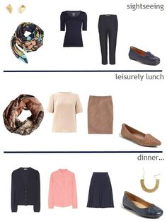 The Vivienne Files: Navy, Tan and Coral travel accessories and outfits