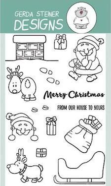 Up On the Housetop Clear Stamp Set by Gerda Steiner Designs Christmas Doodles, Christmas Things, Christmas Cards, Lavinia Stamps, Animal Birthday, Heartfelt Creations, Tampons, Card Making Inspiration, Coloring Book Pages
