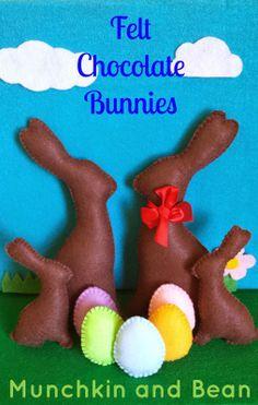 Munchkin and Bean: Felt Chocolate Bunnies