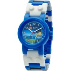 Lego City Special Police Kids' Interchangeable Links Minifigure Watch, Boy's, Size: 1XL, Blue