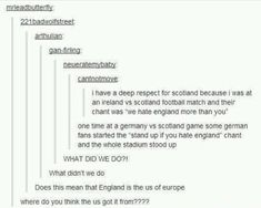 I like England!! But I'm portuguese and we're historical allies so that might be it