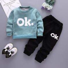 BibiCola boys winter clothing set 2018 fashion letter fleece velvet outfits toddle infant kids t-shirt+pants tracksuit set Boys Formal Suits, Girls Formal Dresses, Baby Girl Romper, Baby Dress, Baby Boy Outfits, Kids Outfits, Christening Gowns Girls, Tracksuit Set, Cute Baby Clothes