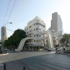 digitally manipulated buildings by Victor Enrich