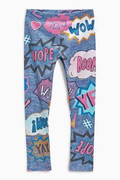 Buy Wow Slogan Denim Leggings (3-16yrs) online today at Next: United States of America